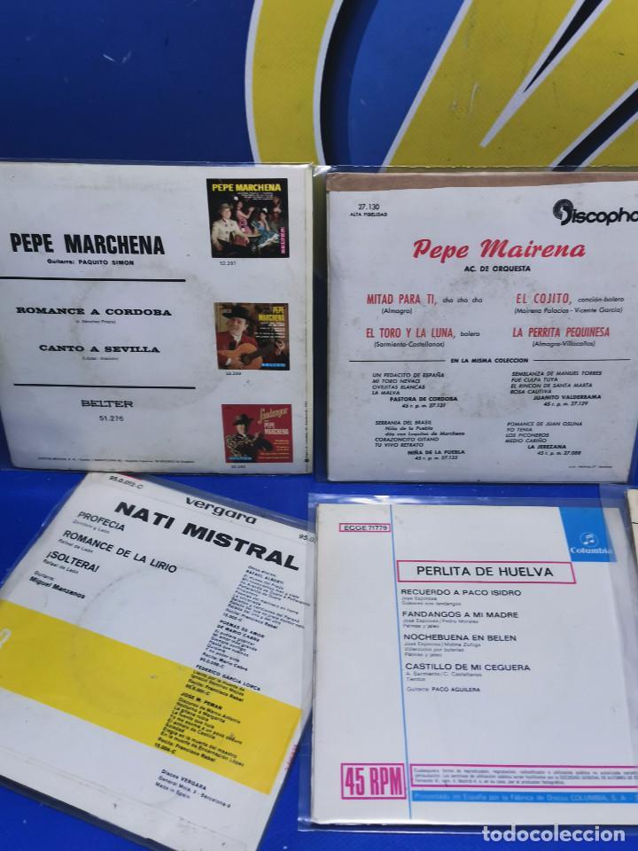 Discos de vinilo: Lote 6 eps 7´´ Vinilos singles PERLITA DE HUELVA-PEPE MARCHENA-PAQUITO JEREZ Y MAS - Foto 5 - 245138635
