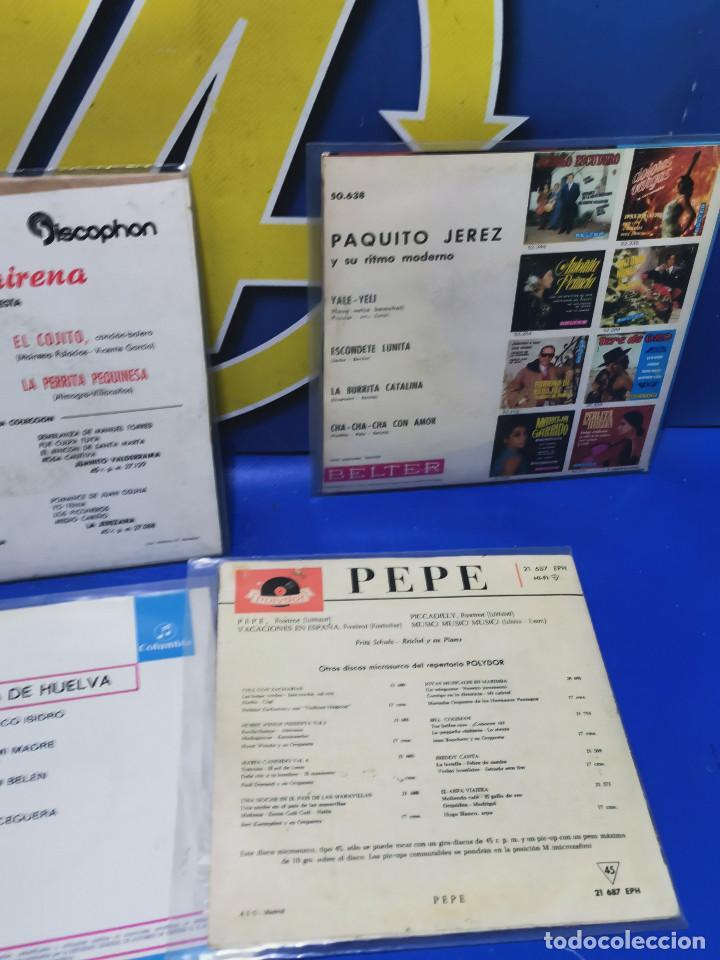 Discos de vinilo: Lote 6 eps 7´´ Vinilos singles PERLITA DE HUELVA-PEPE MARCHENA-PAQUITO JEREZ Y MAS - Foto 6 - 245138635