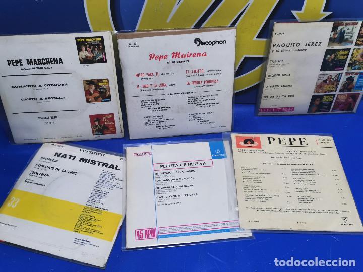 Discos de vinilo: Lote 6 eps 7´´ Vinilos singles PERLITA DE HUELVA-PEPE MARCHENA-PAQUITO JEREZ Y MAS - Foto 7 - 245138635