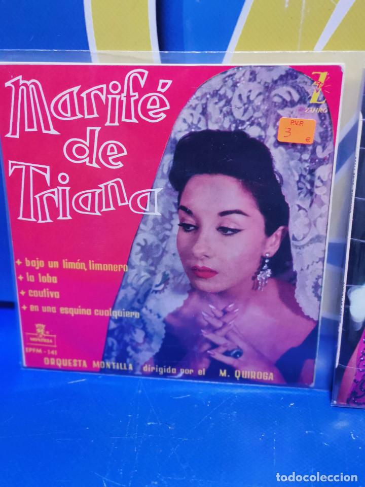 Discos de vinilo: Lote 3 eps 7´´ Vinilos singles LOTE DE 3 -MARIFE DE TRIANA descatalogados - Foto 2 - 245138715