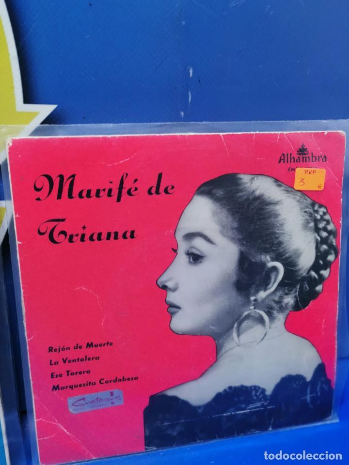Discos de vinilo: Lote 3 eps 7´´ Vinilos singles LOTE DE 3 -MARIFE DE TRIANA descatalogados - Foto 4 - 245138715