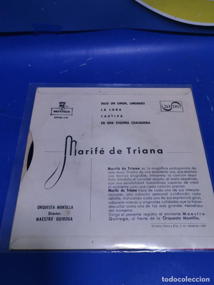 Discos de vinilo: Lote 3 eps 7´´ Vinilos singles LOTE DE 3 -MARIFE DE TRIANA descatalogados - Foto 5 - 245138715