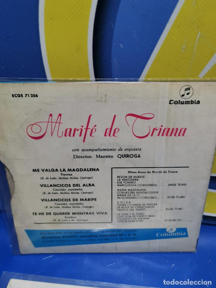 Discos de vinilo: Lote 3 eps 7´´ Vinilos singles LOTE DE 3 -MARIFE DE TRIANA descatalogados - Foto 6 - 245138715