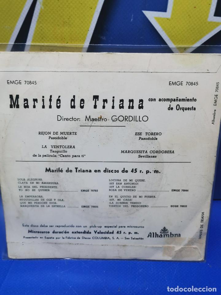 Discos de vinilo: Lote 3 eps 7´´ Vinilos singles LOTE DE 3 -MARIFE DE TRIANA descatalogados - Foto 7 - 245138715