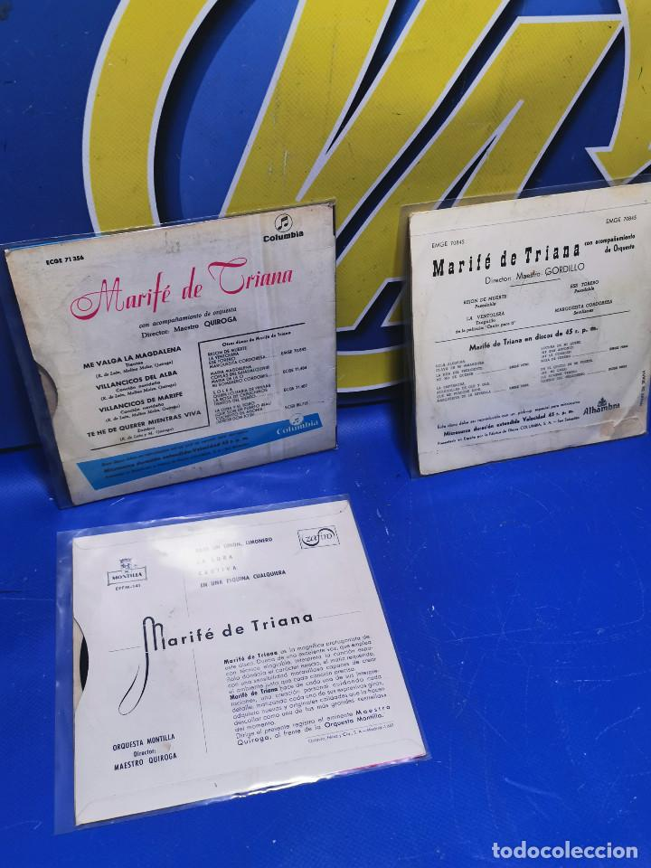 Discos de vinilo: Lote 3 eps 7´´ Vinilos singles LOTE DE 3 -MARIFE DE TRIANA descatalogados - Foto 8 - 245138715