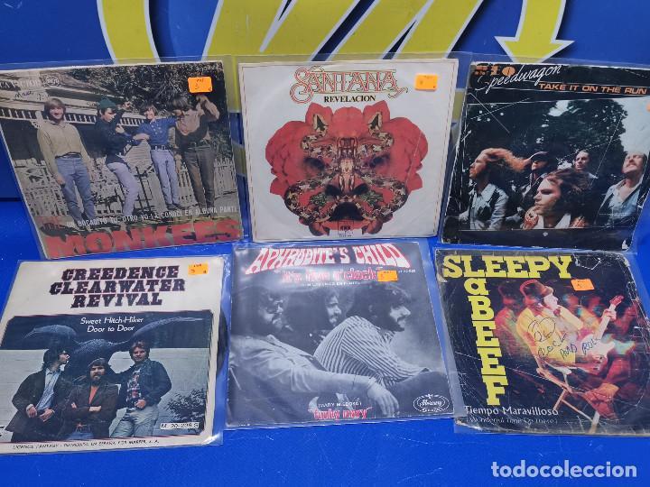 LOTE 6 EPS 7´´ VINILOS SINGLES MONKEES-SANTANA-CREEDENCE CLEARWATER REVIVAL-SPEEDWAGON (Música - Discos de Vinilo - EPs - Otros estilos)