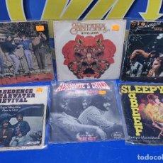 Discos de vinilo: LOTE 6 EPS 7´´ VINILOS SINGLES MONKEES-SANTANA-CREEDENCE CLEARWATER REVIVAL-SPEEDWAGON. Lote 245138760