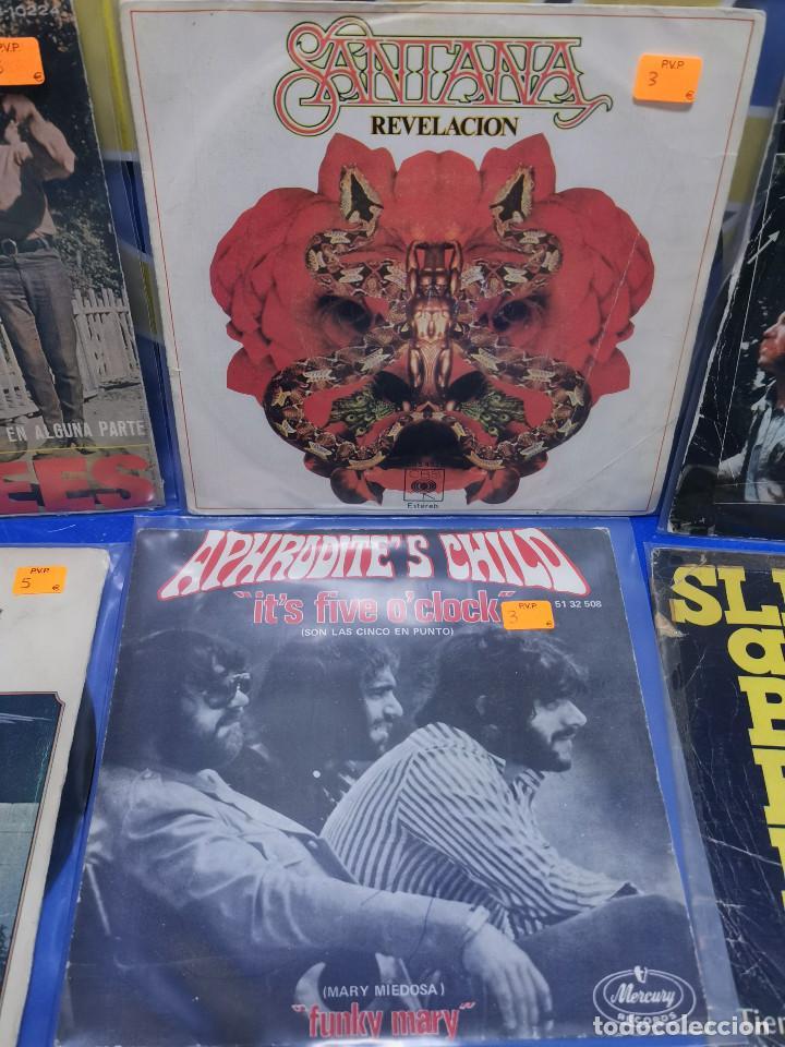 Discos de vinilo: Lote 6 eps 7´´ Vinilos singles MONKEES-SANTANA-CREEDENCE CLEARWATER REVIVAL-SPEEDWAGON - Foto 3 - 245138760