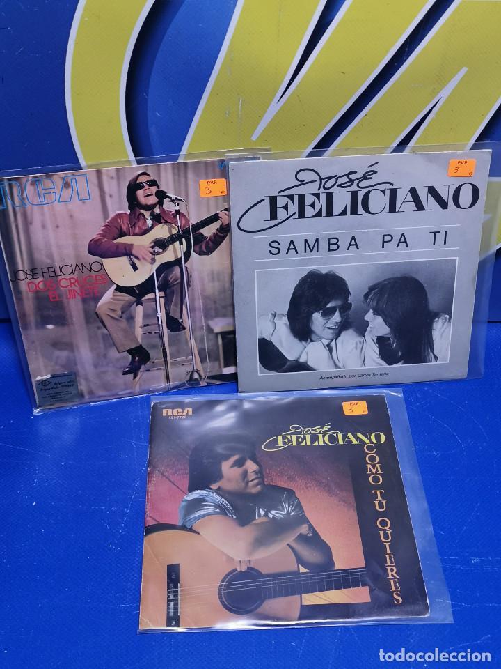 LOTE 3 EPS 7´´ VINILOS -JOSE FELICIANO - DESCATALOGADOS-BUEN ESTADO (Música - Discos de Vinilo - EPs - Otros estilos)