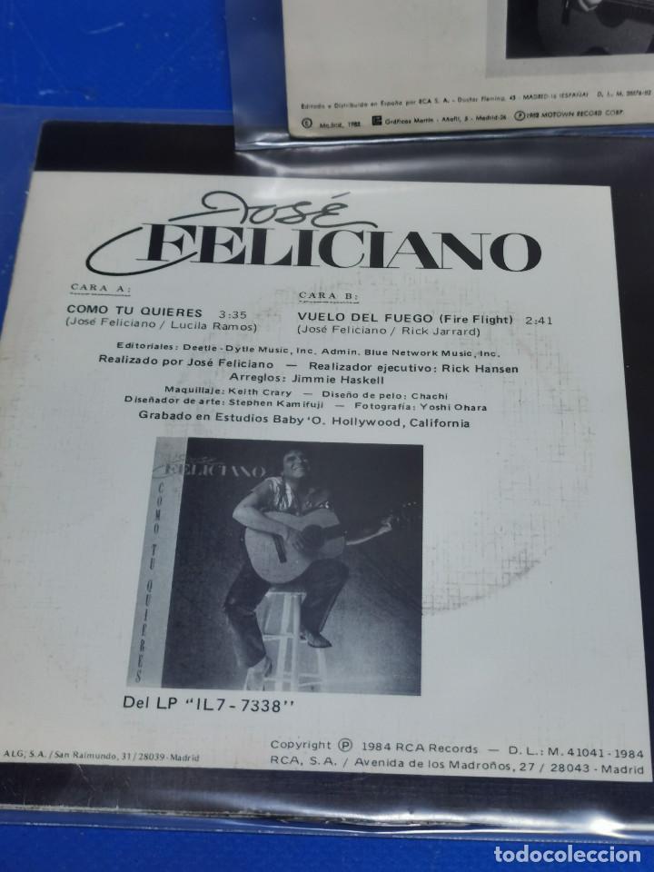 Discos de vinilo: Lote 3 eps 7´´ Vinilos -JOSE FELICIANO - descatalogados-buen estado - Foto 6 - 245138875