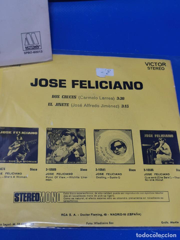 Discos de vinilo: Lote 3 eps 7´´ Vinilos -JOSE FELICIANO - descatalogados-buen estado - Foto 7 - 245138875