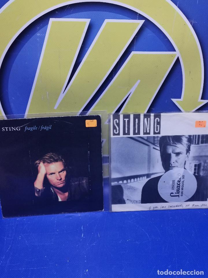 LOTE 2 EPS 7´´ VINILOS -STING - DESCATALOGADOS-BUEN ESTADO (Música - Discos de Vinilo - EPs - Otros estilos)