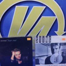 Discos de vinilo: LOTE 2 EPS 7´´ VINILOS -STING - DESCATALOGADOS-BUEN ESTADO. Lote 245139040