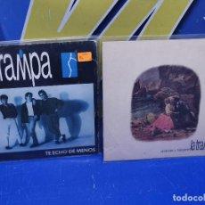 Discos de vinilo: LOTE 2 EPS 7´´ VINILOS -LA TRAMPA-TE ECHO DE MENOS-ACERCATE Y BESAME. Lote 245139210