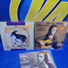 Discos de vinilo: LOTE 3 EPS 7´´ VINILOS -PACO DE LUCIA -CAMARON -BUEN ESTADO. Lote 245139390
