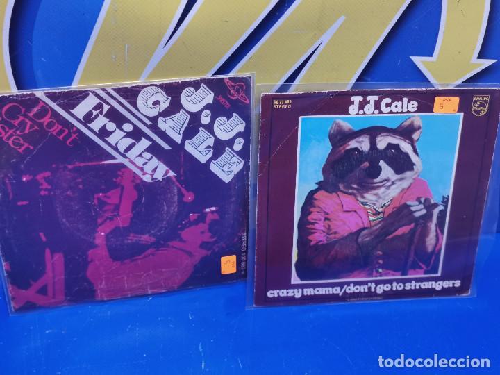 LOTE 2 EPS 7´´ VINILOS -J.J CALE -CRAZY MAMMA-FRIDAY-DONT GO TO STRANGERS (Música - Discos de Vinilo - EPs - Otros estilos)