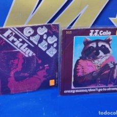 Discos de vinilo: LOTE 2 EPS 7´´ VINILOS -J.J CALE -CRAZY MAMMA-FRIDAY-DONT GO TO STRANGERS. Lote 245140270