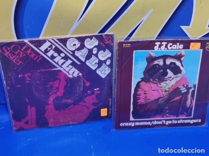 Discos de vinilo: Lote 2 eps 7´´ Vinilos -J.J CALE -CRAZY MAMMA-FRIDAY-DONT GO TO STRANGERS - Foto 2 - 245140270
