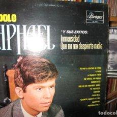 Discos de vinilo: EL IDOLO RAPHAEL ( PUERTO RICO ) INMENSIDAD / QUE NO ME DESPIERTE NADIE / LLEVAN / TU VOLVERAS /. Lote 245157340