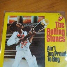 Discos de vinilo: THE ROLLING STONES. AIN'T TOO PROUD TO BEG. SOLO PORTADA.. Lote 245157960