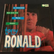 Discos de vinilo: EP TONY RONALD /LA INMENSIDAD/ QUE SERA SERA/MAMA/ VERANO EDITADO POR EMI. Lote 245192990