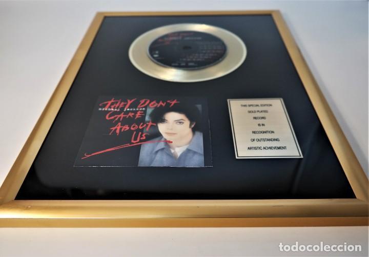 """MICHAEL JACKSON - THEY DON'T CARE ABOUT US - 7"""" SINGLE CD RECORDS GOLDEN PLATED RECORD SPECIAL GOLD (Música - Discos de Vinilo - Maxi Singles - Pop - Rock Internacional de los 90 a la actualidad)"""
