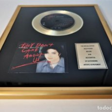 "Discos de vinilo: MICHAEL JACKSON - THEY DON'T CARE ABOUT US - 7"" SINGLE CD RECORDS GOLDEN PLATED RECORD SPECIAL GOLD. Lote 245193560"