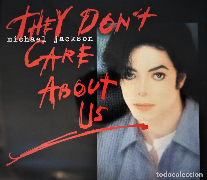 """Discos de vinilo: Michael Jackson - They dont care about us - 7"""" Single CD Records golden plated record Special Gold - Foto 5 - 245193560"""