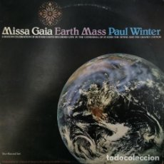 Dischi in vinile: PAUL WINTER - MISSA GAIA EARTH MASS - DOBLE LP DE VINILO EDITADO EN ESTADOS UNIDOS NEW AGE AMBIENT. Lote 245196360