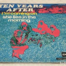Discos de vinilo: SINGLE TEN YEARS AFTER - I'M COMING ON - SHE LIES IN THE MORNING - DERAM 333.025 - PEDIDOS MINIMO 7€. Lote 245197440