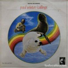 Discos de vinilo: PAUL WINTER - CALLINGS - DOBLE LP DE VINILO NEW AGE AMBIENT. Lote 245202075