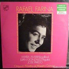 Discos de vinilo: RAFAEL FARINA // CANTE DE FRAGUA+OTRAS // 1970 //(VG VG). LP. Lote 245202595