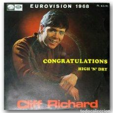 Discos de vinilo: CLIFF RICHARD - CONGRATULATIONS. Lote 245204120