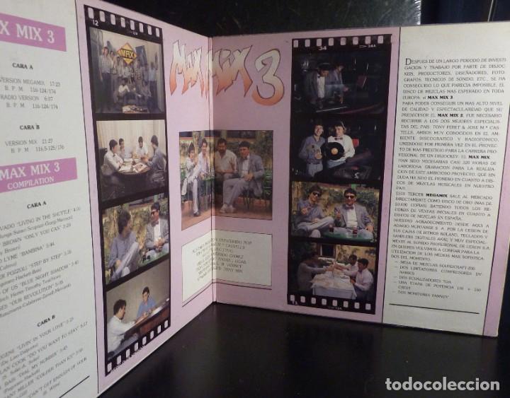 Discos de vinilo: MAX MIX 3 // EL TERCER MEGAMIX ESPAÑOL // PORTADA Y DISCO DOBLE // 1986 // (VG VG). LP - Foto 2 - 245210470