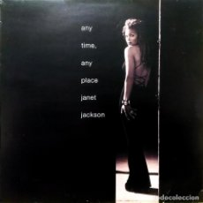 Discos de vinilo: JANET JACKSON - ANY TIME ANY PLACE / THROB, UK 1993, VIRGIN ‎– VST 1501. (VG+_VG+). Lote 245215835