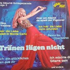 Discos de vinilo: LP-TRÄNEN LÜGEN NICHT-SILBER HIT-GERMANY-COMPILATION POP-SH 2074-SCHLAGER-EXCELENTE. Lote 245219155