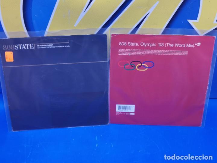 LOTE 2 EPS 7´´ VINILOS SINGLES 808STATE BUEN ESTADO (Música - Discos de Vinilo - EPs - Otros estilos)