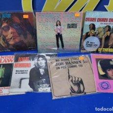 Discos de vinilo: LOTE 7 EPS 7´´ -AÑOS 70-SALOME-TEN YEARS AFTER-A.HAMMOND-S.SHAW-JOE DASSIN Y MAS. Lote 245227665