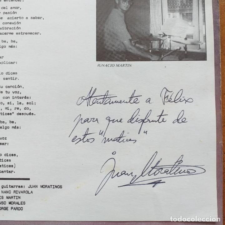 Discos de vinilo: MORATINOS - MATICES (LP) CON AUTOGRAFO !!!!! - Foto 2 - 245231125