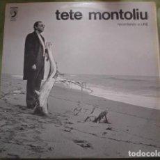 Discos de vinilo: TETE MONTOLIU RECORDANDO A LINE. Lote 245235350