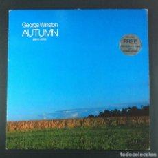 Discos de vinilo: GEORGE WINSTON - AUTUMN (PIANO SOLOS) - LP ALEMAN CON INSERTO - WINDHAM / A&M. Lote 245242630