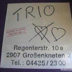 Discos de vinilo: TRIO - LP MERCURY 1982 - ELECTRONICA DISCO ALEMANIA POP 80'S - PRECINTADO. Lote 245251045