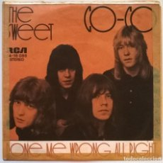 Discos de vinilo: THE SWEET. CO-CO/ DONE ME WRONG OR RIGHT. RCA-VICTOR, GERMANY 1971 SINGLE. Lote 245297050
