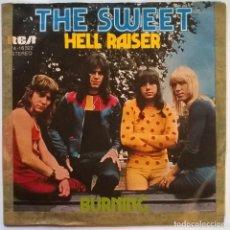 Discos de vinilo: THE SWEET. HELL RAISER/ BURNING. RCA-VICTOR, GERMANY 1973 SINGLE. Lote 245300355