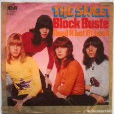 Discos de vinilo: THE SWEET, BLOCKBUSTER/ NEED A LOT OF LOVIN'. RCA-VICTOR, GERMANY 1973 SINGLE. Lote 245300815