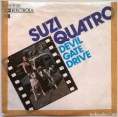 Discos de vinilo: SUZI QUATRO.DEVIL GATE DRIVE/ IN THE MORNING. RAK-ELECTROLA, GERMANY 1974 SINGLE. Lote 245308295