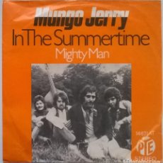 Discos de vinilo: MUNGO JERRY. IN THE SUMMERTIME/ MIGHTY MAN. PYE, GERMANY 1970 SINGLE. Lote 245310395