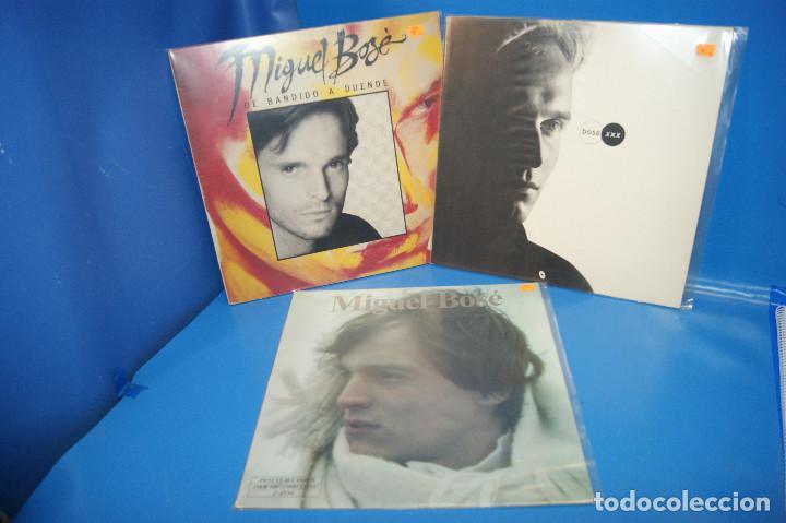 LOTE 3 VINILOS-DISCOS LPS MIGUEL BOSE-DE BANDIDO A DUENDE-XXX-MIGUEL BOSE (Música - Discos - LP Vinilo - Otros estilos)