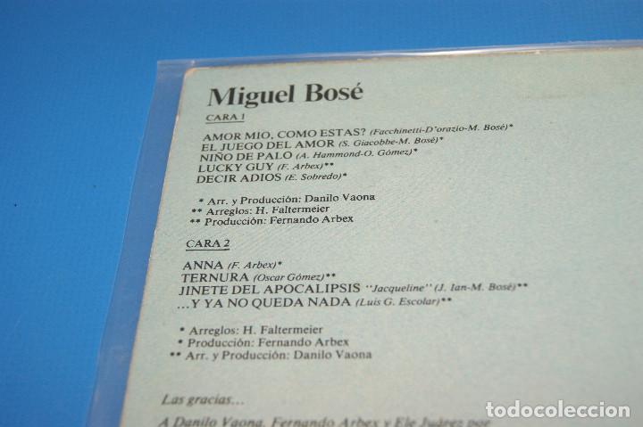 Discos de vinilo: Lote 3 vinilos-discos Lps MIGUEL BOSE-De bandido a Duende-XXX-MIGUEL BOSE - Foto 5 - 245343260