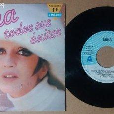 Discos de vinilo: MINA / TODOS SUS EXITOS / EP 7 PULGADAS PROMOCIONAL. Lote 245351135